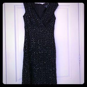 Gorgeous black sequin lace Tadashi Shoji XL dress